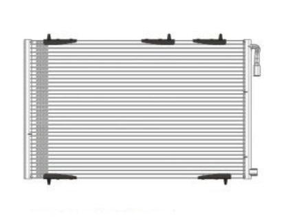 Auto air conditioning condenser for PEUGEOT 206 98-